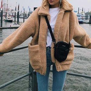 Oversized Sherpa Fleece Teddy Coat Jacket